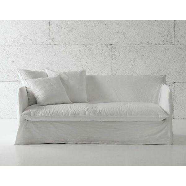 CanapélitGHOSTGERVASONI - Canapé blanc tissu