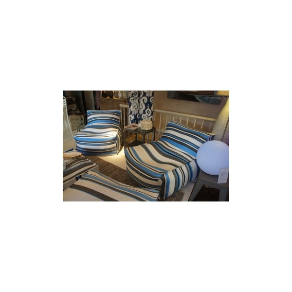 fauteuil blue white asiatides. Black Bedroom Furniture Sets. Home Design Ideas